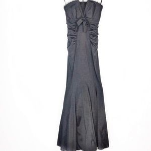 Cache Dresses - Strapless Mermaid Gown Bow Cache Black 8